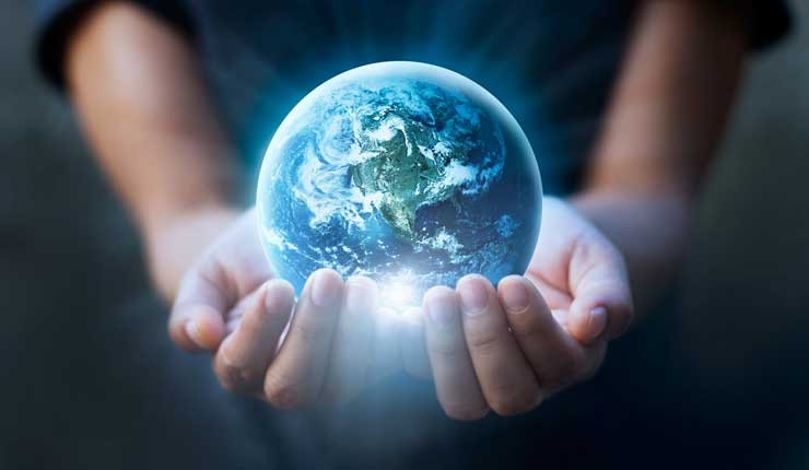 Yssy Visão em 3 Planeta Terra